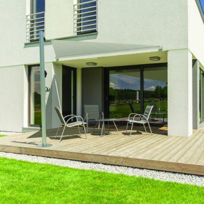 Minimalist modern house terrace